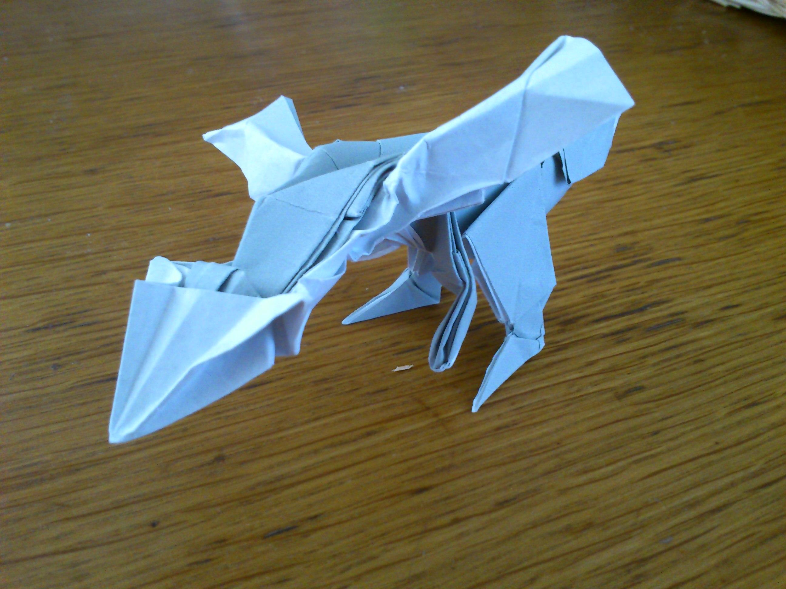すべての折り紙 クワガタ 折り紙 作り方 : ポケモンのキュレム折り紙を ...