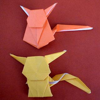 クリスマス 折り紙 折り紙 ピカチュウ : ori.axono.jp